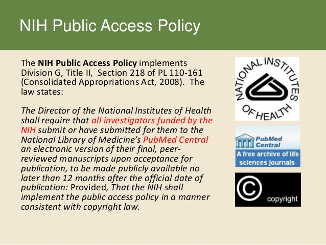 Required Acknowledgement of ConduITS CTSA Support and the NIH Public Access Policy